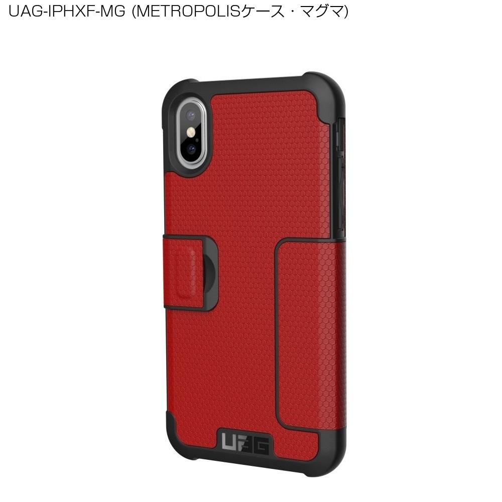 (販売終了)UAG iPhone XS / X用 METROPOLISケース(フォリオ・手帳型) 全3色 耐衝撃 UAG-IPHXFシリーズ