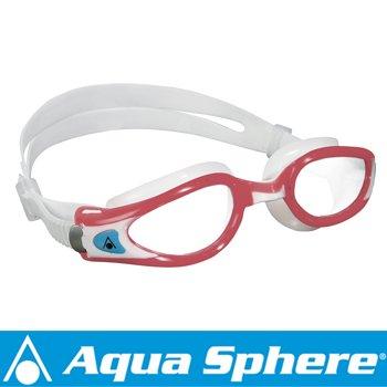 Aqua Sphere/アクアスフィア ケイマンエグゾー クリアレンズ レディ レッド/ホワイト S[381050237200]