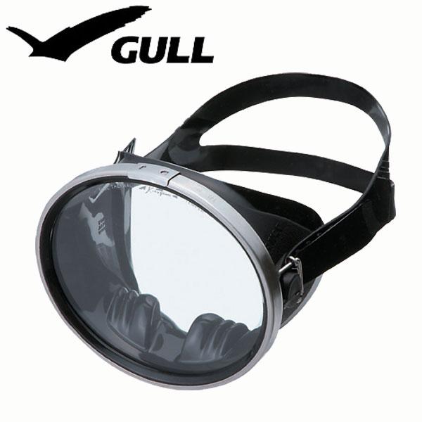 ダイビング用マスク GULL/ガル アビス ブラックシリコン GM-1086