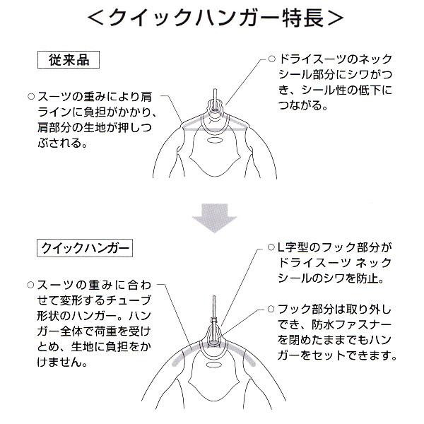 【スーツ用ハンガー】WorldDive/ワールドダイブ クイックハンガー[811400010000]