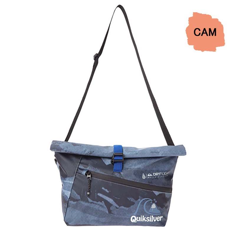 QUIKSILVER クイックシルバー 防水 ショルダーバッグ メンズ サコッシュ BLOCK ROLL BAG QBG201315