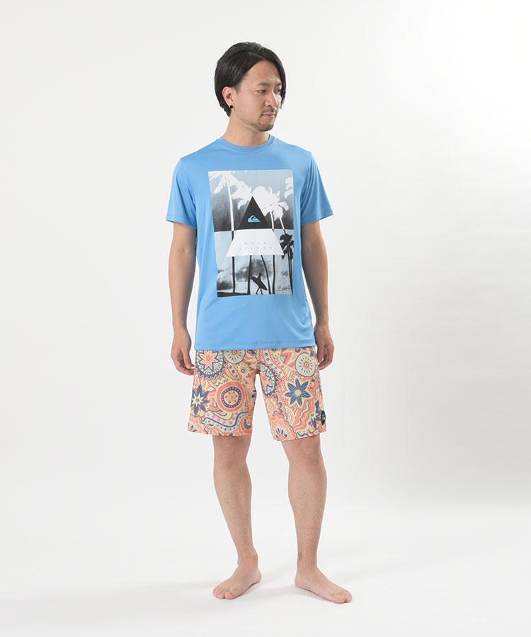 QUIKSILVER クイックシルバー ラッシュガード Tシャツ メンズ 半袖  LONELY SURFER SS QLY191009