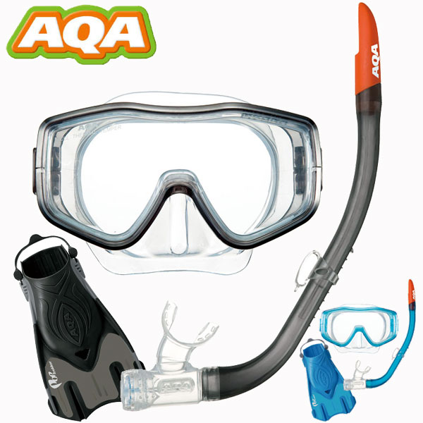 【スノーケリングセット】<br>AQA スノーケリング3点セット <br>ライトL 【メンズ】KZ-9211[32310037]