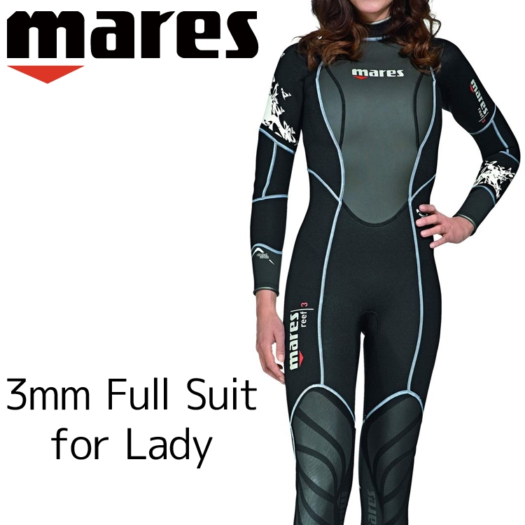 ウェットスーツ レディース 3mm mares マレス リーフ シーダイブス ダイビング ウエットスーツ