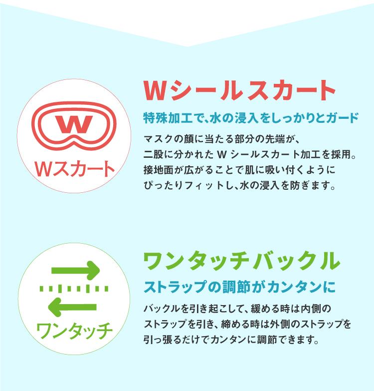 スノーケリング用マスク REEF TOURER/リーフツアラー マスク RM11Z【男女兼用10歳〜大人向け】