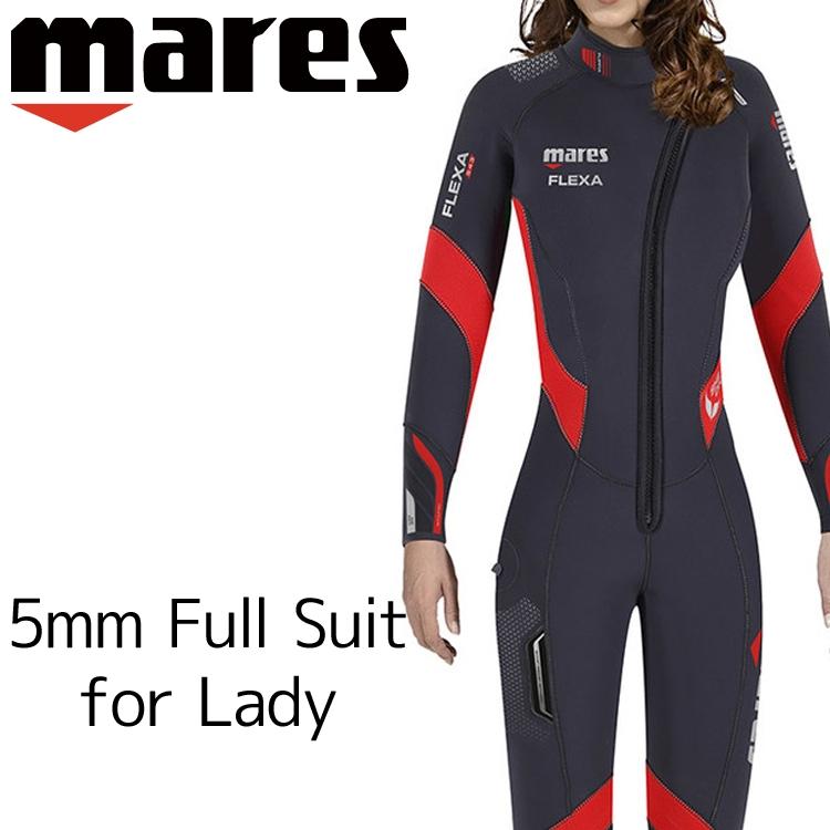 ウェットスーツ 5mm レディース mares マレス フレクサ シーダイブス ダイビング ウエットスーツ