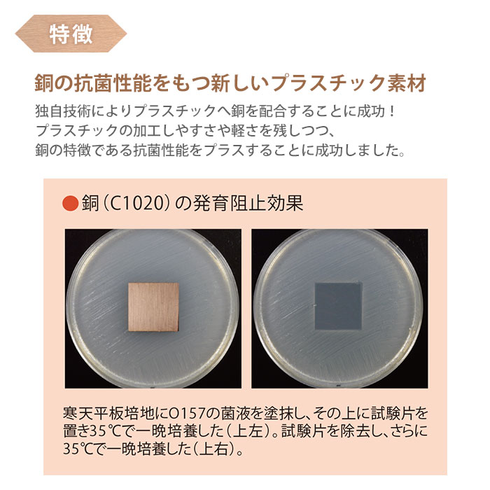 Plapper プラッパー 銅成分配合 抗菌 マウスパッド G-02P 事務 デスク パソコン [M便 1/2]