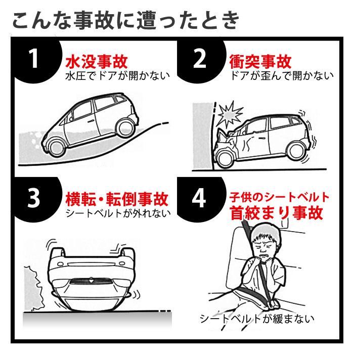 Resqme社製 自動車用緊急脱出・救出ツール レスキューミー[M便 1/5]