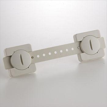 リンクストッパーI型LS-282[2本組](転倒防止/地震対策/PC固定/固定ベルト/粘着タイプ)