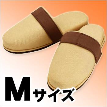 ぬげにくい安全スリッパM(足サイズ〜24cm)(安全/がれき/飛散/ワンタッチテープ/脱げにくい)
