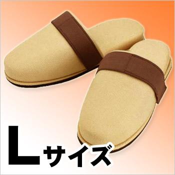 ぬげにくい安全スリッパL(足サイズ〜27cm)(安全/がれき/飛散/ワンタッチテープ/脱げにくい)