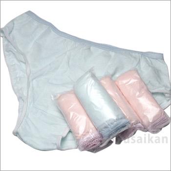 使い捨てコットンショーツMサイズ5枚入り(女性用/パンツ/下着/肌着)