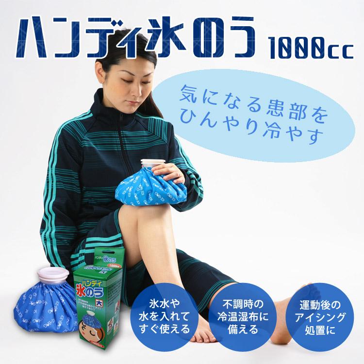 ハンディ「氷のう」大1000cc(水枕/アイシング/氷枕/ひょうのう/水嚢)