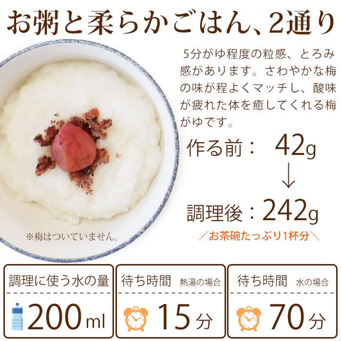 非常食 尾西の梅がゆ 42g アルファ米スタンドパック(梅粥 うめがゆ) [M便 1/4]