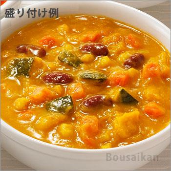 カゴメ野菜たっぷりスープ「かぼちゃのスープ160g」バラ1袋(KAGOME/非常食/保存食/長期保存/レトルト/開けてそのまま/美味しい/おいしい)[M便 1/4]