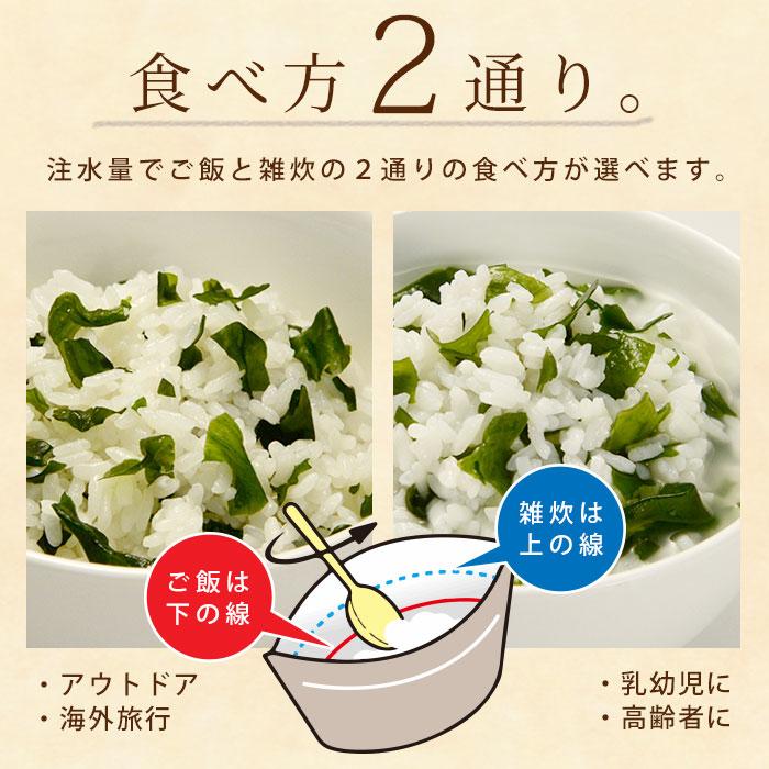 非常食 保存食 アルファ米 マジックライス わかめご飯  100g  サタケ