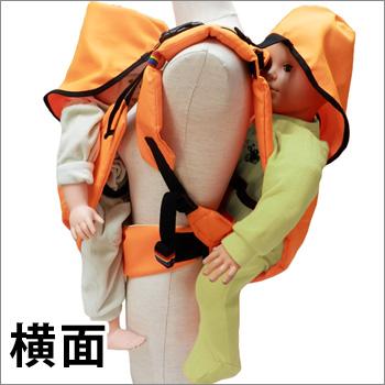 避難くん 避難用2人抱きキャリー 01-109(だっこ紐 抱っこ紐 おんぶ帯 おんぶ紐 救出 救助 災害 防災 介護)