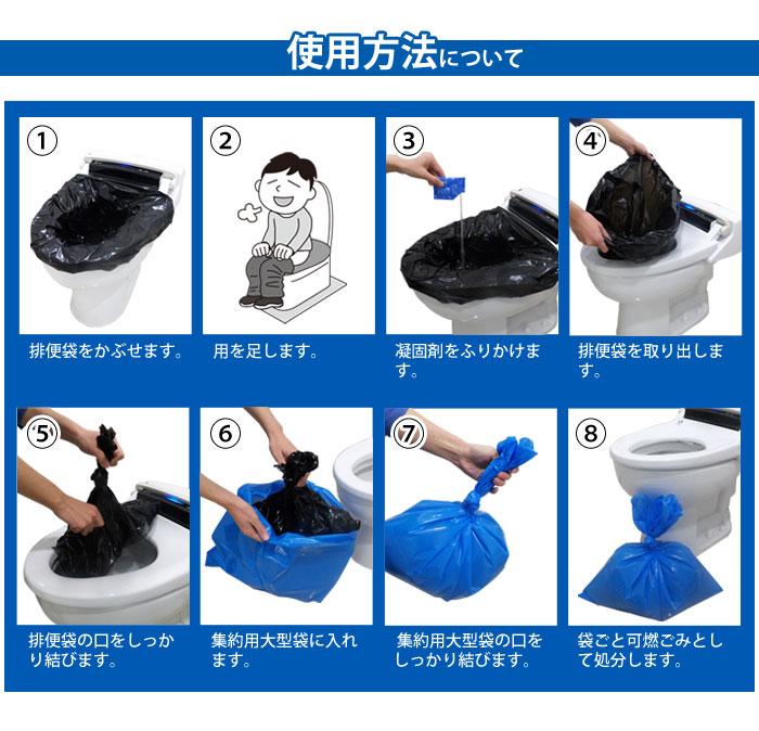 非常用トイレ どこでもトイレ『便リーナ』20回分セット