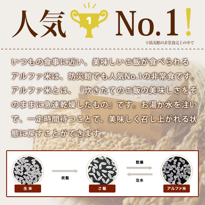 非常食アルファ米 尾西の赤飯 100g ×50袋入[箱売り]<br>(スタンドパック お赤飯 小豆 アルファー米 アルファ化米)