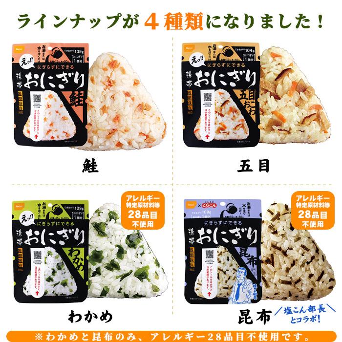 非常食 にぎらずにできる携帯おにぎり 鮭 50袋セット(5年保存/ご飯/おむすび/おにぎり/アルファ米)