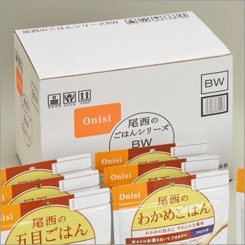 非常食アルファ米セット尾西食品のごはんシリーズBW[和風メニュー]+保存水6本入り(5年保存 アルファー米 アルファ化米)