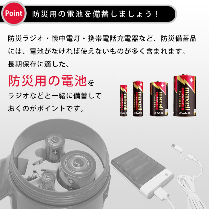 アルカリ乾電池 単2形 2本パック 防災用 10年 長期保存電池 マクセル maxell 日本製 ボルテージ