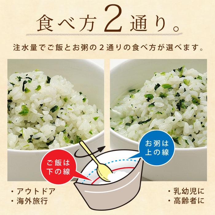 非常食 保存食 アルファ米 マジックライス 青菜ご飯 100g サタケ