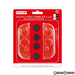 【新品即納】[ACC][Switch](Switch用)(スイッチ用) クリアカバー & FPSスティック コロンバスサークル(CC-NSCAF-CL)(20201127)
