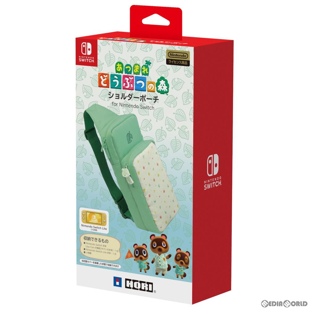 【新品】【お取り寄せ】[ACC][Switch]あつまれどうぶつの森 ショルダーポーチ for Nintendo Switch/Nintendo Switch Lite(ニンテンドースイッチ/ニンテンドースイッチライト) 任天堂ライセンス商品 HORI(NSW-241)(20200320)