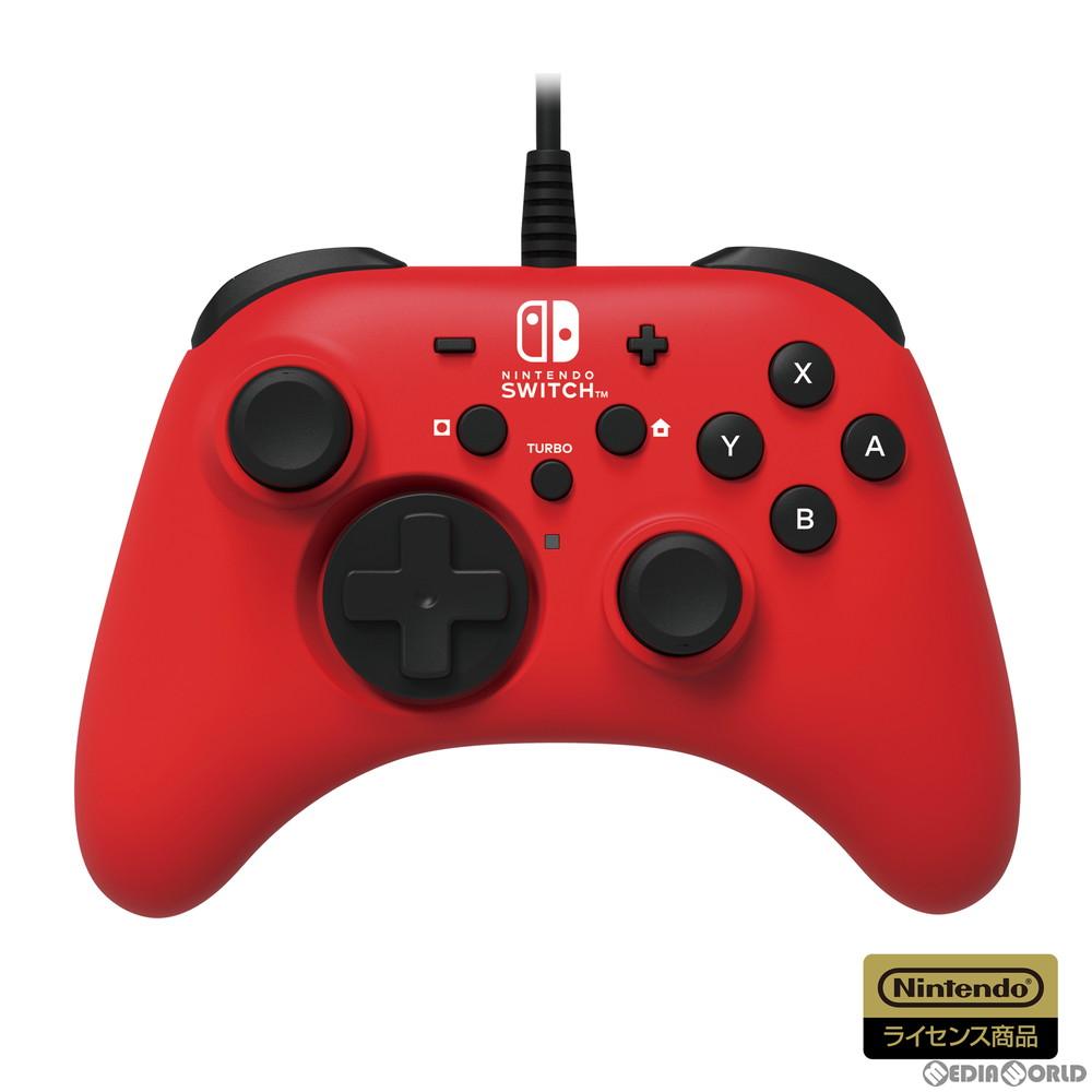 【新品即納】[ACC][Switch]ホリパッド for Nintendo Switch(ニンテンドースイッチ) レッド 任天堂ライセンス商品 HORI(NSW-156)(20201008)