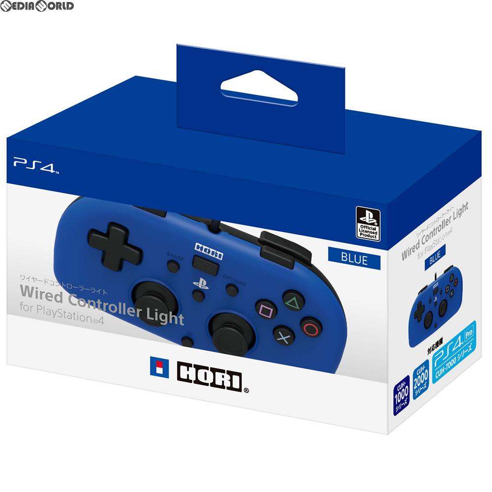 【中古即納】[ACC][PS4]ワイヤードコントローラーライト for PlayStation4 ブルー HORI(PS4-100)(20171207)