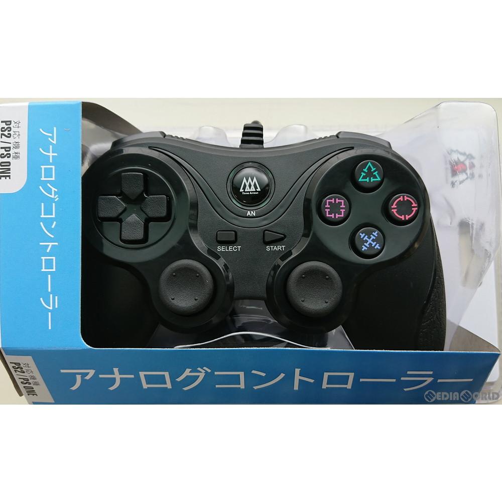 【新品】【お取り寄せ】[ACC][PS2]アナログコントローラ(PS2/PS one用) スリーアロー(THA-SN501)(20200120)