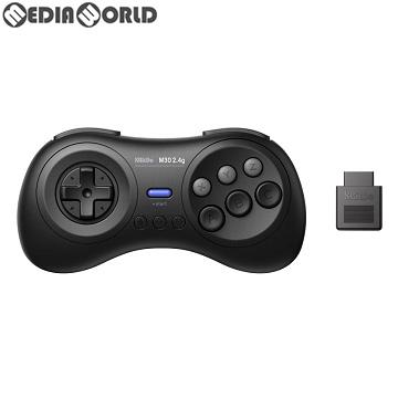 【中古即納】[ACC][MD]8BitDo M30 2.4G Wireless GamePad(ワイヤレス ゲームパッド) for MD ブラック サイバーガジェット(CY-8BDM30W-BK)(20190518)