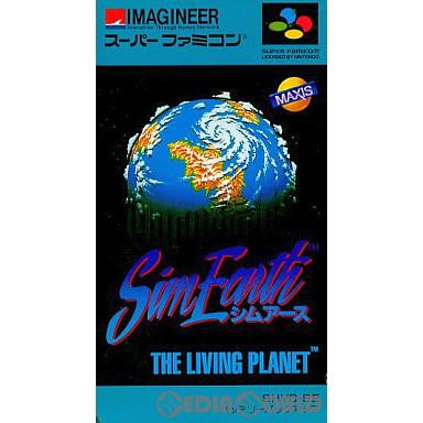 【中古即納】[箱説明書なし][SFC]シムアース(Sim Earth THE LIVING PLANET)(19911229)