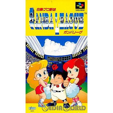 【中古即納】[SFC]白熱プロ野球ガンバリーグ(19910809)