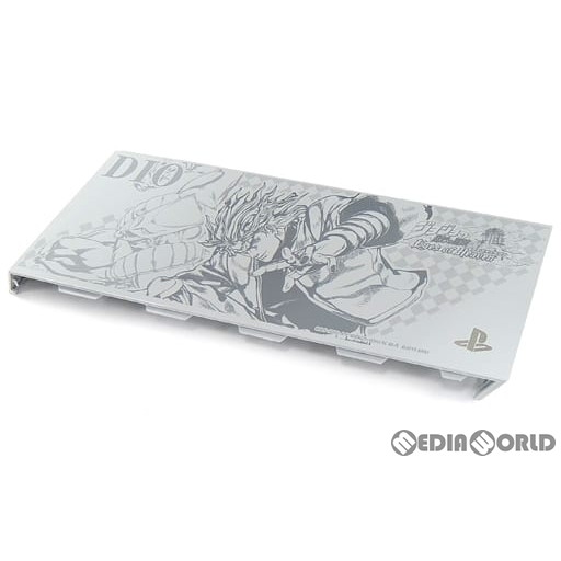 【中古即納】[ACC][PS4]ソニーストア限定 プレイステーション4 PlayStation4 HDDベイカバー ジョジョの奇妙な冒険 アイズオブヘブン DIO ver. グレイシャー・ホワイト SCE(84970463)(20151217)