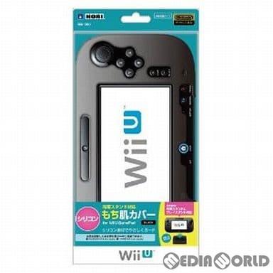 【中古即納】[ACC][WiiU]充電スタンド対応 シリコン もち肌カバー for Wii U GamePad ブラック 任天堂ライセンス商品 HORI(WIU-50)(20131101)