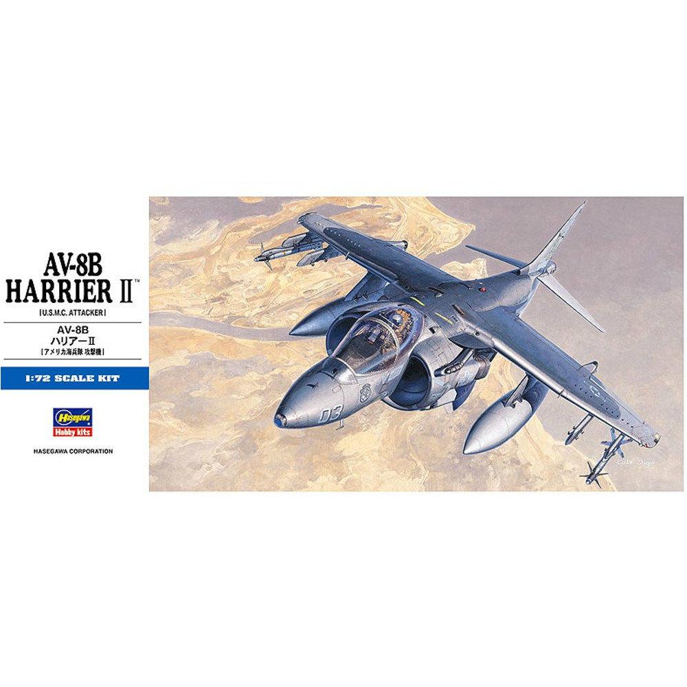 【中古即納】[箱難あり][PTM]D19 1/72 AV-8B ハリアーII プラモデル ハセガワ(20010430)