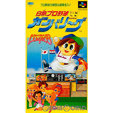 【中古即納】[箱説明書なし][SFC]白熱プロ野球ガンバリーグ'93(19921211)
