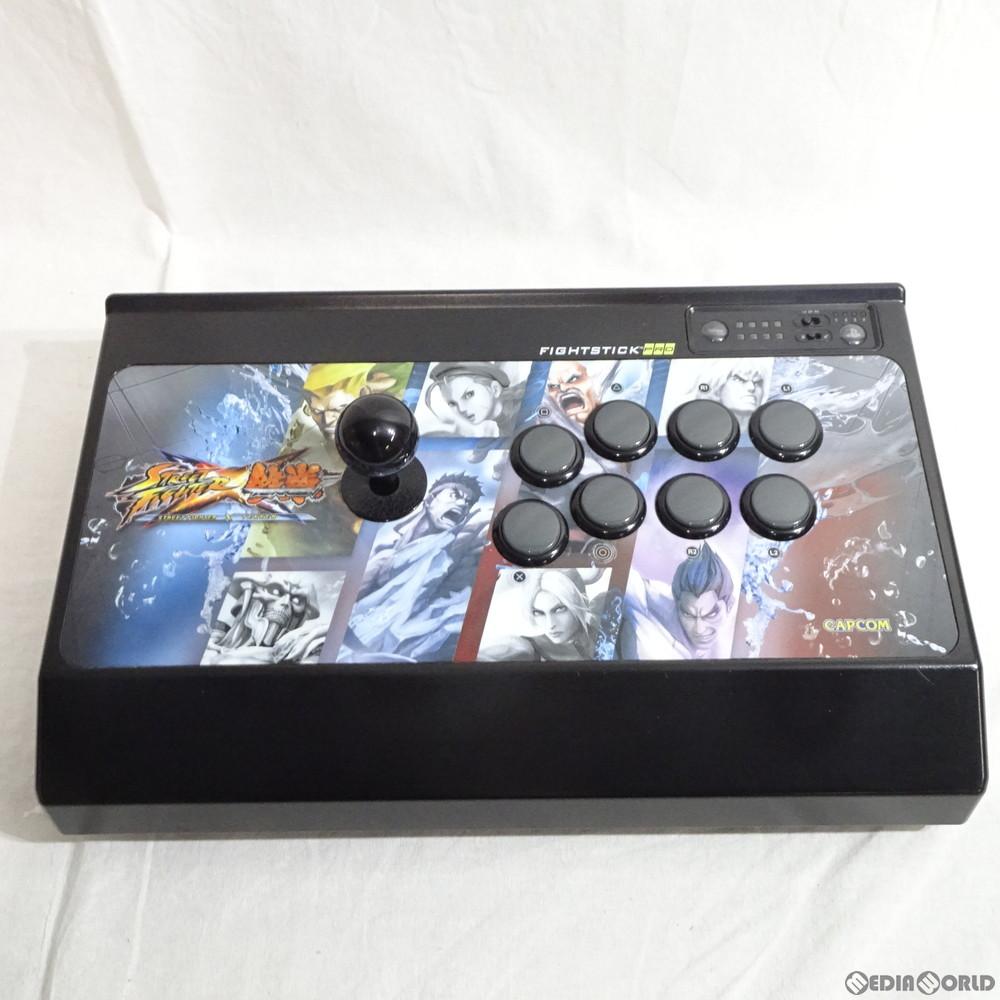 【中古即納】[ACC][PS3]STREET FIGHTER(ストリートファイター) × 鉄拳 アーケード ファイトスティック プロ ラインデザイン for PlayStation3 Mad Catz(マッドキャッツ)(MCZJ-00019)(20120308)