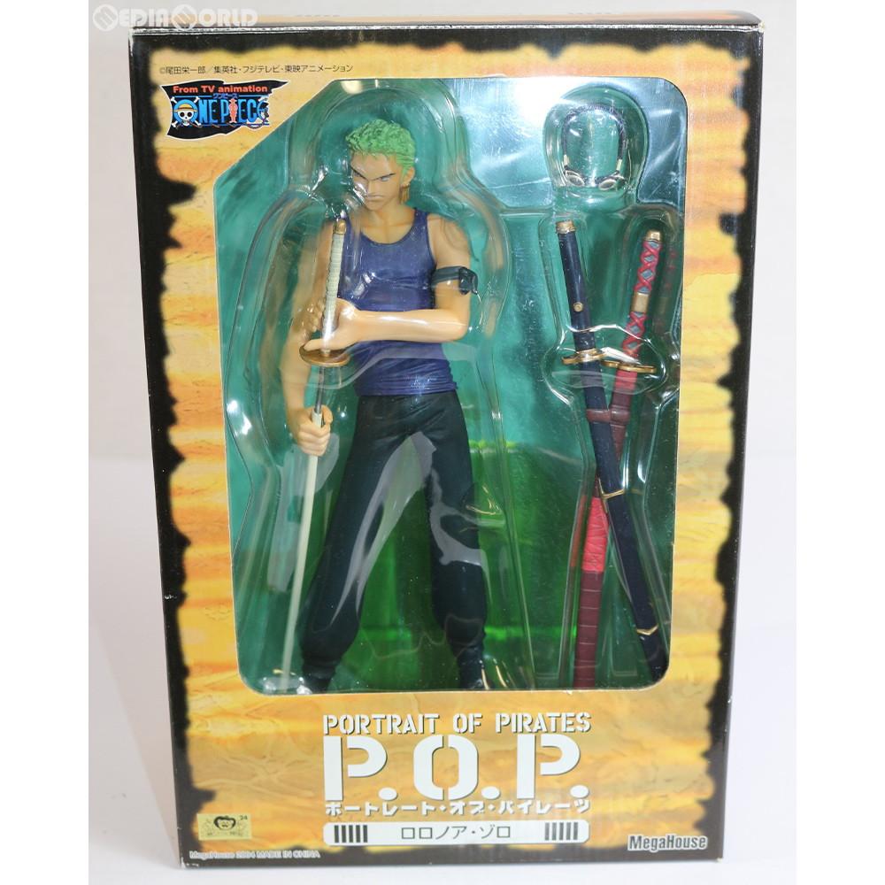 【中古即納】[FIG]エクセレントモデル Portrait.Of.Pirates P.O.P ロロノア・ゾロ ONE PIECE(ワンピース) 1/8 完成品 フィギュア メガハウス(20040430)