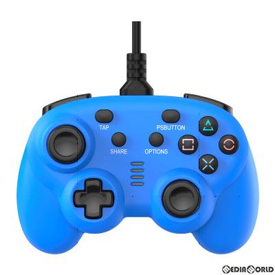 【新品即納】[ACC][Switch]CYBER・ワイヤードコントローラー ミニ(PS4/SWITCH用)(PS4/スイッチ用) サイバーガジェット ブルー(CY-NSP4WCM-BL)(20200910)