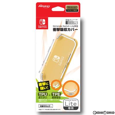 【新品即納】[ACC][Switch]Nintendo Switch Lite専用衝撃吸収カバー クリア 任天堂ライセンス商品 マックスゲームズ(HROH-02CL)(20200417)