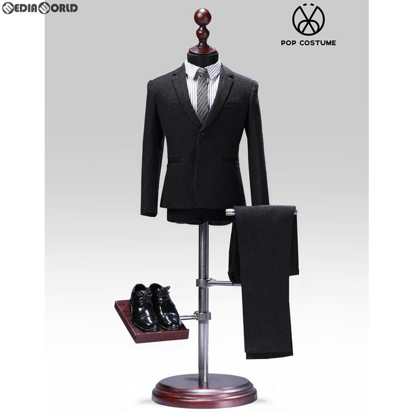 【新品即納】[FIG]1/6 メール ストライプスーツ セット 2.0 for ナローショルダー ブラック ドール用衣装(POP-X28-A) ポップトイズ(20191120)
