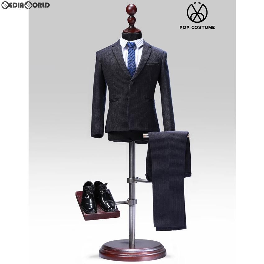 【新品即納】[FIG]1/6 メール ストライプスーツ セット 2.0 for ナローショルダー ブルー ドール用衣装(POP-X28-B) ポップトイズ(20191120)