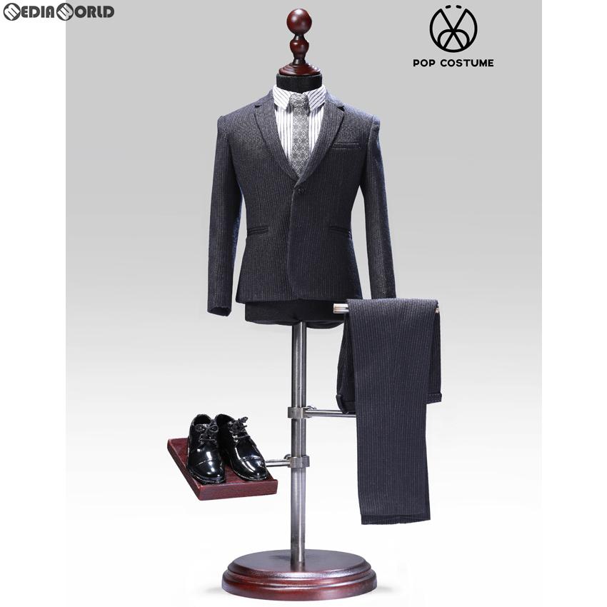 【新品即納】[FIG]1/6 メール ストライプスーツ セット 2.0 for ナローショルダー グレー ドール用衣装(POP-X28-C) ポップトイズ(20191120)