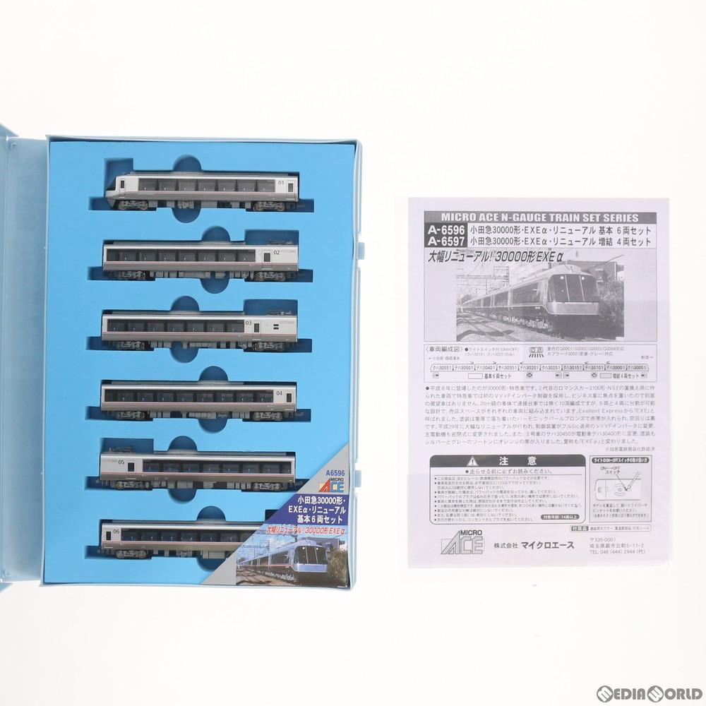 【新品即納】[RWM](再販)A6596 小田急30000形 EXEα リニューアル 基本6両セット Nゲージ 鉄道模型 MICRO ACE(マイクロエース)(20190727)