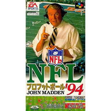 【中古即納】[箱説明書なし][SFC]NFL プロフットボール'94(19931224)