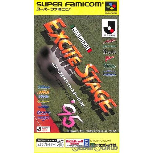 【中古即納】[箱説明書なし][SFC]Jリーグ エキサイトステージ'95(19950428)