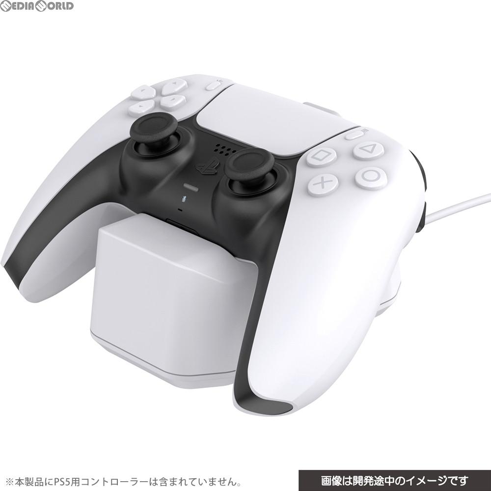 【新品即納】[ACC][PS5]CYBER・置くだけで充電できるコントローラースタンド(PS5用) ホワイト サイバーガジェット(CY-P5OCCS-WH)(20201112)